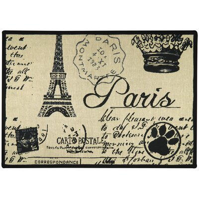 Paris Collage Tapestry Pet Mat Color: Multi