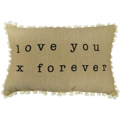 Love You Forever 100% Cotton Lumbar Pillow
