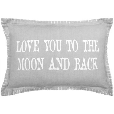 Love You to Moon 100% Cotton Lumbar Pillow