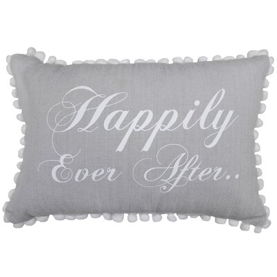 Happily Ever After 100% Cotton Lumbar Pillow