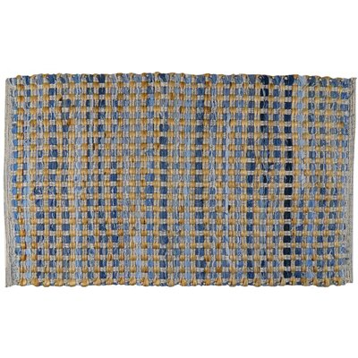 Quality Living Jute Check Hand-Woven Denim Area Rug