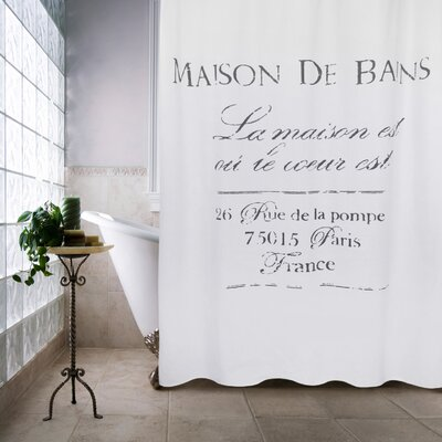Metro Farmhouse Maison De Bains Cotton Shower Curtain