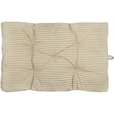 Metro Farmhouse Ticking Stripe Crate Futon Mat Color: Linen