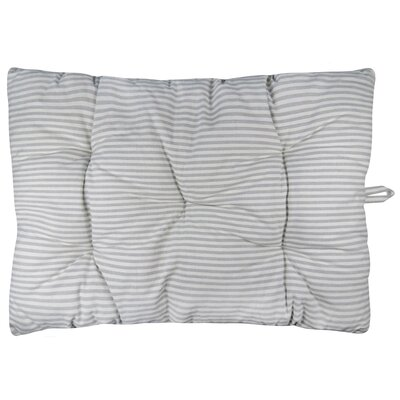 Metro Farmhouse Ticking Stripe Crate Futon Mat Color: Gray
