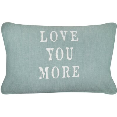Vintage House Love You More Cotton Lumbar Pillow Color: Spearmint/White