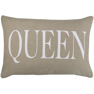 Vintage House Queen Cotton Lumbar Pillow Color: Linen