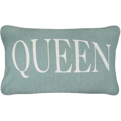 Vintage House Queen Cotton Lumbar Pillow Color: Spearmint