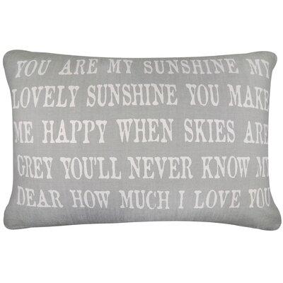 Vintage House Sunshine Cotton Lumbar Pillow Color: Gray/White