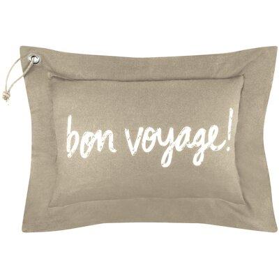 Vintage House Bon Voyage Cotton Lumbar Pillow Color: Linen