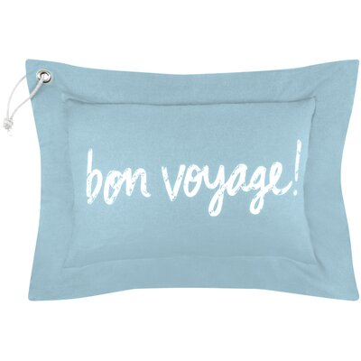 Vintage House Bon Voyage Cotton Lumbar Pillow Color: Aqua