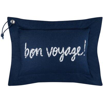 Vintage House Bon Voyage Cotton Lumbar Pillow Color: Indigo