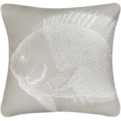 Vintage House Fish Cotton Throw Pillow Color: Gray