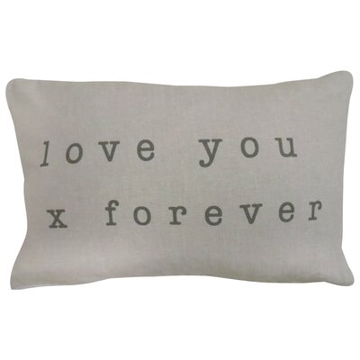 Vintage House Love You Forever Lumbar Pillow