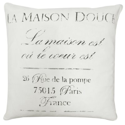 La Maison Printed Decorative 100% Cotton Throw Pillow