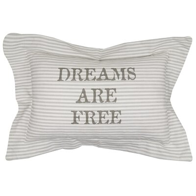 Dream Are Free Printed Decorative 100% Cotton Lumbar pillow