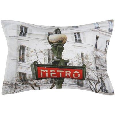 Metro Printed Decorative 100% Cotton Lumbar Pillow