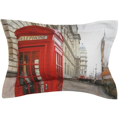 London Calling Printed Decorative 100% Cotton Lumbar Pillow