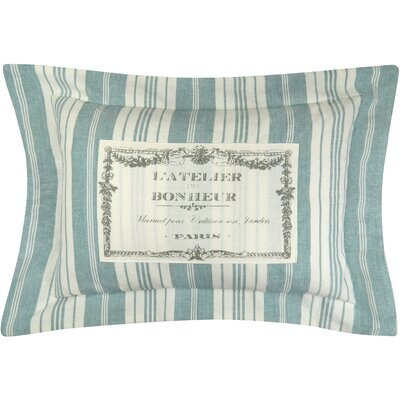 Bonheur Flanged Printed Decorative 100% Cotton Lumbar Pillow Color: Spearmint