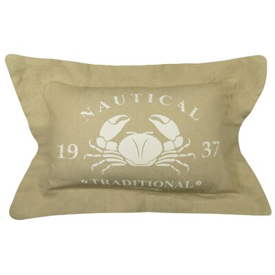 Nautical Marine Printed Decorative 100% Cotton Lumbar Pillow