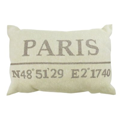 Paris Latitude Tapestry Decorative Lumbar Pillow