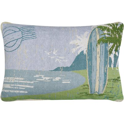 Surf Board Tapestry Decorative Lumbar Pillow