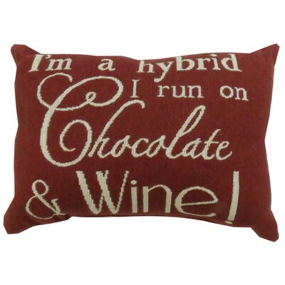 Chocolate & Wine Tapestry Decorative Lumbar Pillow