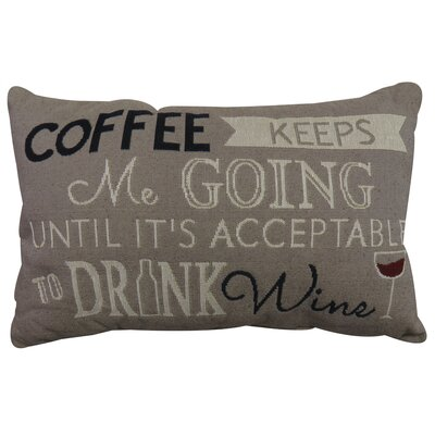 Coffee Keeps Me Going Tapestry Decorative Lumbar Pillow