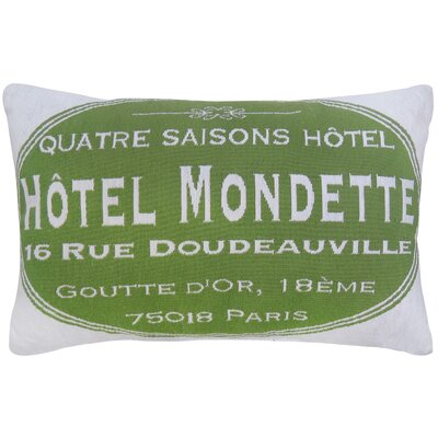 Hotel Mondette Tapestry Decorative Lumbar Pillow Color: Leaf