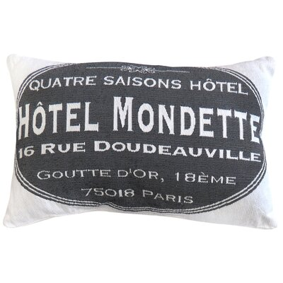 Hotel Mondette Tapestry Decorative Lumbar Pillow Color: Gray