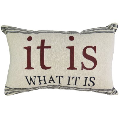 It Is What It Is Tapestry Decorative Lumbar Pillow