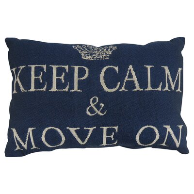 Keep Calm and Move on Tapestry Decorative Lumbar Pillow