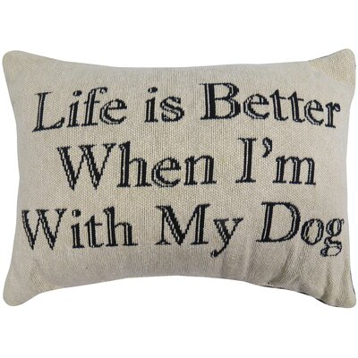 Life is Better with Dog Tapestry Decorative Lumbar Pillow