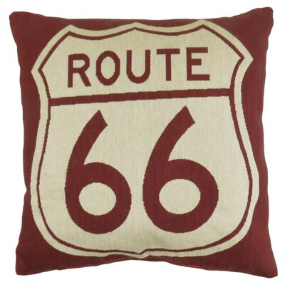 Route 66 Tapestry Decorative Throw Pillow