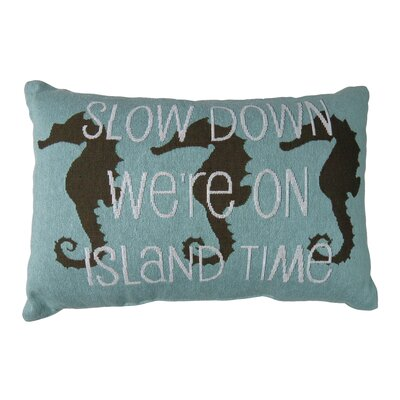 Slow Down Island Time Tapestry Decorative Lumbar Pillow