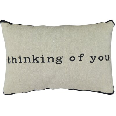 Thinking of You Tapestry Decorative Lumbar Pillow