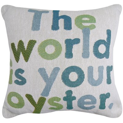 The World Is Your Oyster Tapestry Decorative Throw Pillow