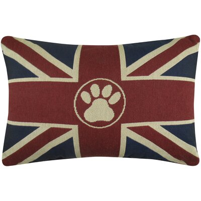 Union Jack Paw Tapestry Decorative Lumbar Pillow