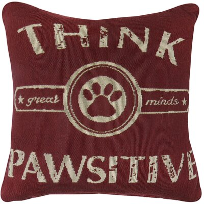 Pawsitive Tapestry Decorative Throw Pillow Color: Cinnabar