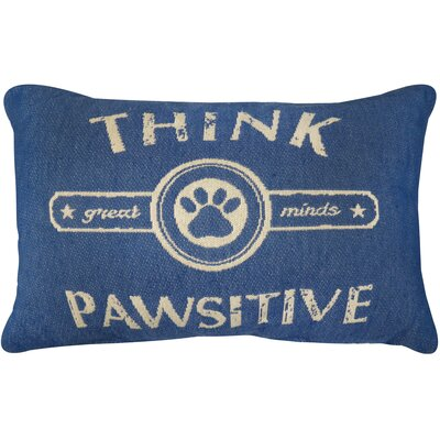 Pawsitive Tapestry Decorative Lumbar Pillow Color: Royal Blue