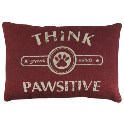 Pawsitive Tapestry Decorative Lumbar Pillow Color: Cinnabar