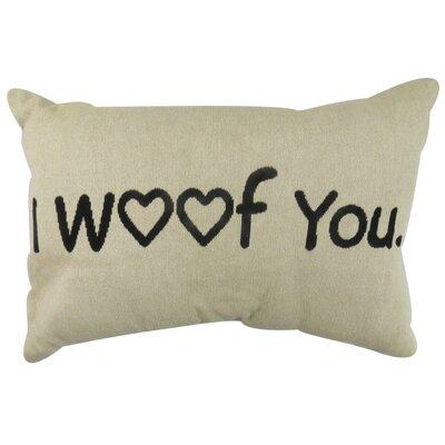 I Woof You Tapestry Decorative Lumbar Pillow