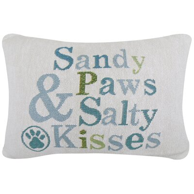 Sandy Paws and Salty Kisses Tapestry Decorative Lumbar Pillow