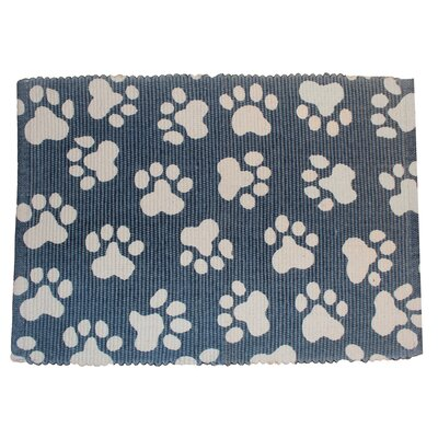 Alberto World Paws Cotton Pet Mat Size: 19 W x 13 D, Color: Slate
