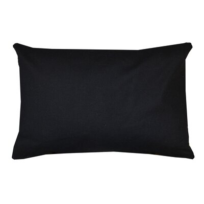 Florentine Indoor Printed Decorative Rectangular 100% Cotton Lumbar Pillow Color: Black