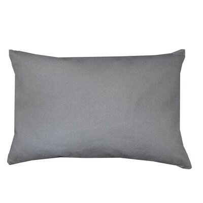 Florentine Indoor Printed Decorative Rectangular 100% Cotton Lumbar Pillow Color: Dark Gray