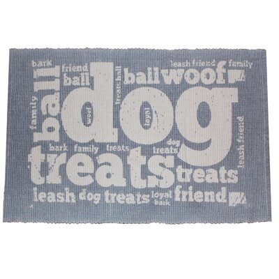 PB Paws & Co. Family Treats Cotton Pet Mat Size: 24 W x 16 D, Color: Celestial Blue