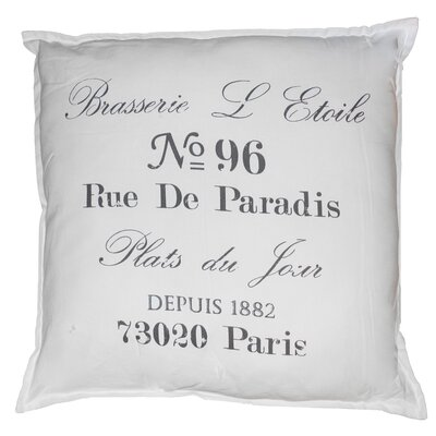 Vintage House Brasserie 100% Cotton Floor Pillow