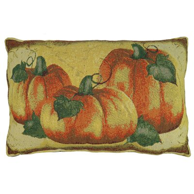Brampton Crackle Pumpkin Tapestry Lumbar Pillow