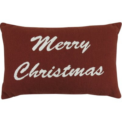 Goehring Merry Christmas Tapestry Lumbar Pillow