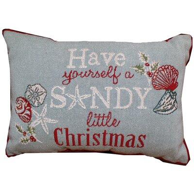 Mikael Sandy Christmas Tapestry Lumbar Pillow